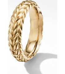 men's david yurman chevron 18k gold band ring