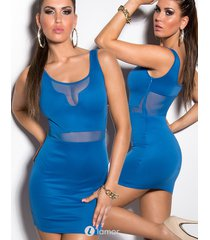 sexy blauw club mini jurkje