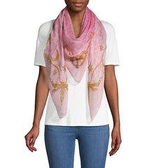 graphic cheetah-print scarf