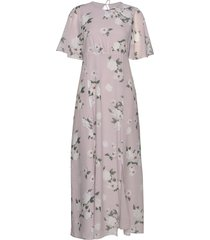 valerie flower maxi dress galajurk roze line of oslo