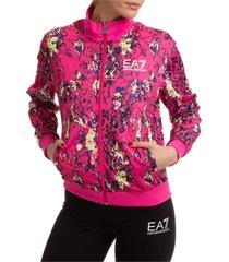 emporio armani ea7 lana zip-up sweatshirt