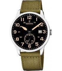 reloj estuche verde oscuro festina