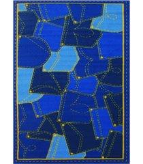 """fun rugs fun time jean pockets 19"""" x 29"""" area rug bedding"""