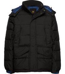 puffer jacket gevoerd jack zwart lee jeans
