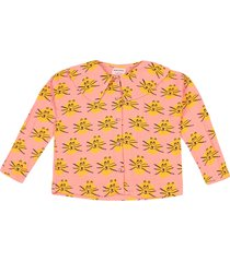 cat all over woven blouse blouse tuniek roze bobo choses