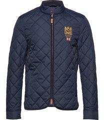 trenton quilted jacket doorgestikte jas blauw morris
