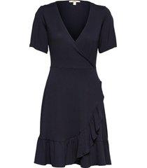 dresses knitted knälång klänning blå esprit casual