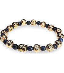 dell arte lava stone beaded bracelet