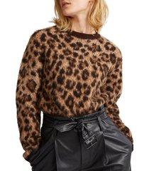 chaleco leopard-print wool café polo ralph lauren
