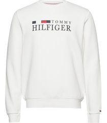 basic hilfiger sweat sweat-shirt trui wit tommy hilfiger