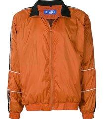 etudes logo strap track jacket - yellow