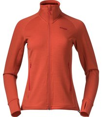 bergans vest women ulstein wool jacket brick