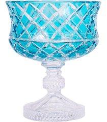 centro de mesa de cristal lodz – turquesa