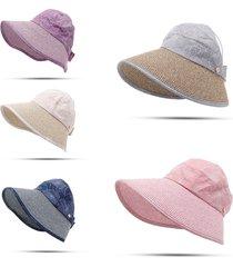 cappello con tesa larga con scialle da spiaggia con protezione radiazion solare