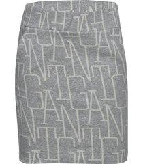 d1. allover gant jersey skirt kjol grå gant
