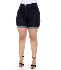 shorts xtra charmy jeans plus size com cinta modeladora-56
