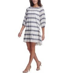 tommy hilfiger striped drop-waist dress