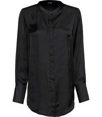 camicetta lunga con collo alla coreana (nero) - bodyflirt