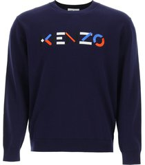 kenzo sweater with multicolor logo embroidery