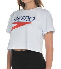 camiseta crop logo vintage femenino
