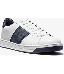mk sneaker tyler in pelle con logo - indaco scuro (blu) - michael kors