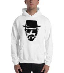 buzo capota breaking bad heisenberg sombrero estampado negro