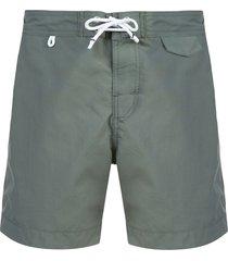 cuisse de grenouille drawstring swim shorts - grey