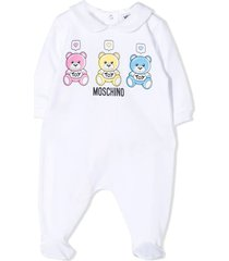 moschino white stretch-cotton pajamas