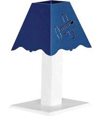 abajur aviador mdf - azul marinho - transporte - azul marinho - feminino - dafiti