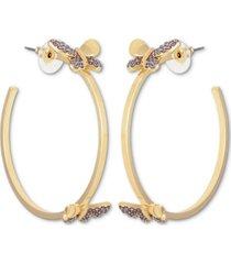 "guess butterfly medium hoop earrings, 1.75"""