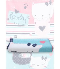 toalha de praia santista katty 70cmx1,40m rosa - tricae