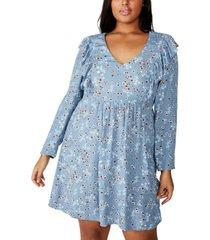 cotton on curve britt babydoll mini dress