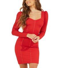 guess rachel puff-sleeve bustier dress