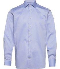 contemporary fit blue lightweight twill shirt skjorta business blå eton