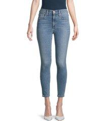 joe's jeans women's high-rise skinny jeans - blue - size 32 (10-12)