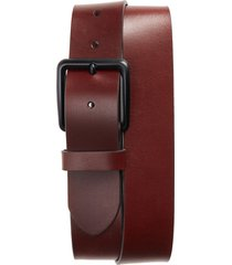 1901 garrett leather belt, size 46 in brown earth at nordstrom