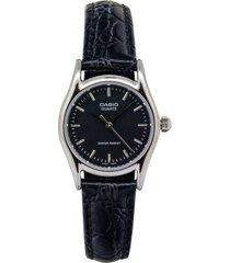reloj casio ltp_1094e_1ar negro cuero