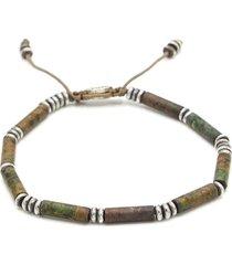 african turquoise tube bead bracelet