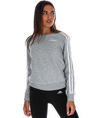 womens essentials 3-stripes crew sweatshirt
