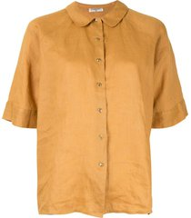 chanel pre-owned peter pan collar shirt - yellow