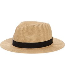 madewell packable straw fedora hat, size medium in natural straw at nordstrom