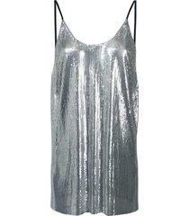 metallic sequin vest