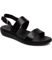 barra shoes summer shoes flat sandals svart fitflop