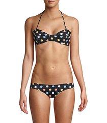 kali polka-dot halter bikini top