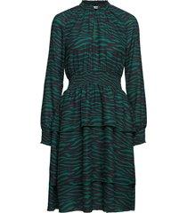 veronika knälång klänning grön fall winter spring summer