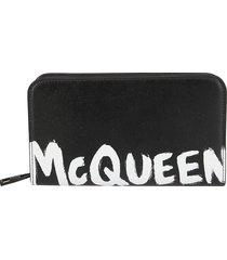 alexander mcqueen logo print wallet