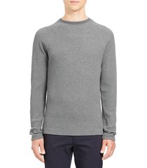 men's theory river thermal stitch long sleeve t-shirt, size x-large - grey
