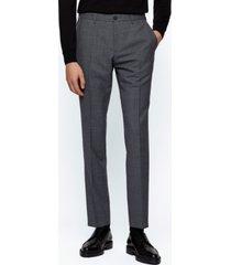 boss men's micro-pattern slim-fit pants