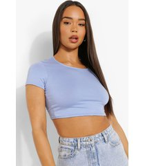 basic crop top met korte mouwen, pale blue