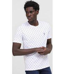 camiseta aleatory geomã©trica branca - branco - masculino - algodã£o - dafiti
